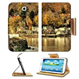 Hudson River Autumn New York Samsung Galaxy Tab 3 7.0 Flip Case Stand Magnetic Cover Open Ports Cust