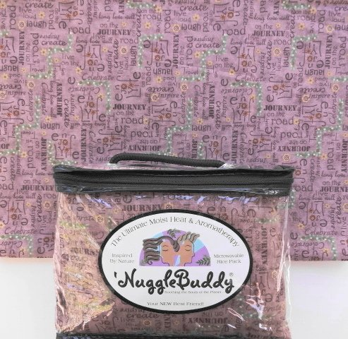 "'Nugglebuddy Moist Heat & Aromatherapy Organic Rice Pack For Microwave. Cold Pack. ""Life'S Journey"" Inspirational Words Fabric. (Plum) Unscented. See Over 100 Additional 'Nugglebuddy Selections By Searching For Nugglebuddy Under ""All Departments."""