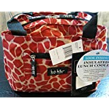 "Nicole Miller of New York Insulated Lunch Cooler-Red /Tan 11"" Lunch Tote"