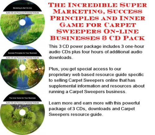 The Incredible Super Marketing, Success Principles and Inner Game for Carpet Sweepers On-line Businesses 3 CD Pack (The Incredible Sweeper compare prices)
