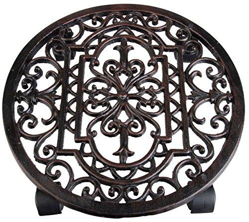 Esschert Design - Carrello portavasi, a lavorazione in stile antico, di varie forme