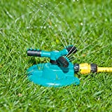 MyGarden Lawn Water Sprinkler - Adjustable 360° Rotation for Watering Plants, Flowers and Gardens - Attach to Long Garden Hose for Enhanced Irrigation System