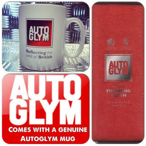 Autoglym Car Care Valeting Polish & Wax Hi-Tech Red Finishing Cloth + Genuine Mug Cup