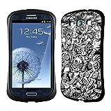Head Case Designs Punk Doodle Voodoo Dolls Hybrid Gel Back Case for Samsung Galaxy S3 III I9300
