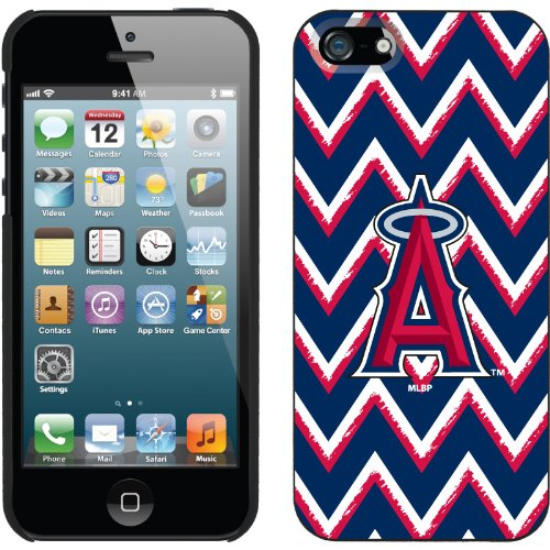 Best Price LA Angels of Anaheim - Sketchy Chevron design on a Black iPhone 5s / 5 Thinshield Snap-On Case by Coveroo