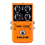 NUX Time Core Deluxe Delay Guitar Effect Pedal 7 Delay types with Looper Tone lock Upgrade mode (Color: Time Core DELUXE)