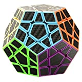Twister.CK 3x3 Megaminx Speed Cube Magic Cube Brain Teasers Puzzles with Carbon Fiber Sticker (Color: 3x3 Megaminx Speed Cube)