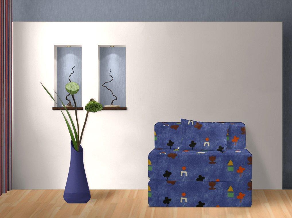 Schlafsofa, Lucky, blau, 90 cm günstig online kaufen
