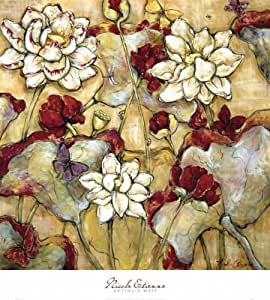 Barewalls Lotus Botanical by Nicole Etienne Canvas Art, 30-Inch by 30-Inch