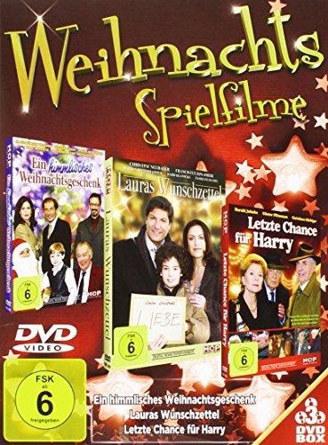 Weihnachtsspielfilme [3 DVDs: Ein himmlisches Weihnachtsgeschenk, Lauras Wunschzettel, Letzte Chance für Harry]