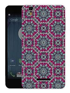 "Humor Gang Beautiful Ethnic Pattern Printed Designer Mobile Back Cover For ""Yu Yureka Plus"" (3D, Matte, Premium Quality Snap On Case)"