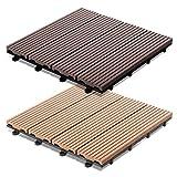 Dalles terrasse casa pura® Timber en 2 coloris | SET de 11 ou 33 pièces disponibles -