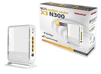Sitecom N300 X3 - Router (Algoritmo de seguridad: 802.1x RADIUS, WPA, WPA-AES, WPA-TKIP, WPA2, Calidad de servicio (QoS) soporte, Indicadores LED), color blanco