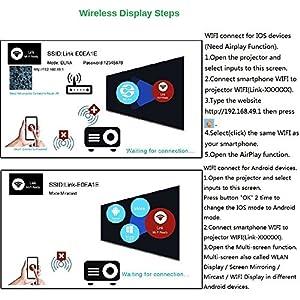 FastFox Mini WIFI Projector UC46 800 Lumen 800x480 Resolution Video Beamer support VGA AV TF USB HDMI by OEM Projectors