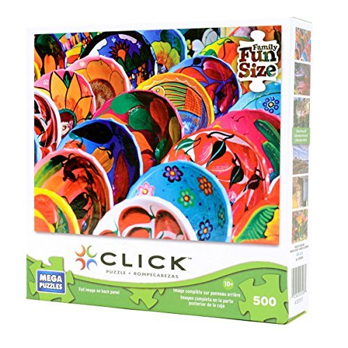 Colorful Mayan Bowls 500 Piece Puzzle