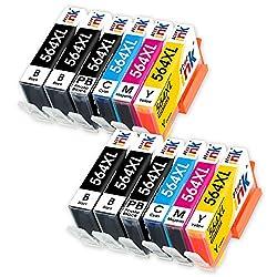 Starink 564 564XL Compatible Ink Cartridge 4 Color, Use in HP Photosmart 5510 5520 5522 6510 6520 7510 7520 7525 B8550 C6380 D7560 Photosmart C309 C410 Officejet 4620 Deskjet 3520 Printer