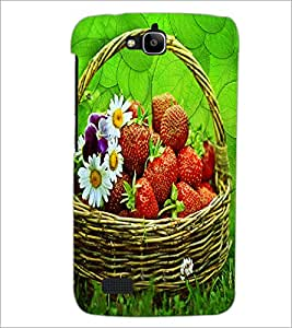 PrintDhaba Flower Bucket D-3416 Back Case Cover for HUAWEI HONOR HOLLY (Multi-Coloured)
