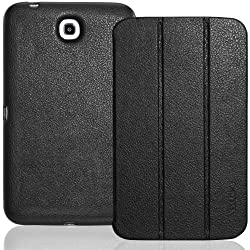 INVELLOP Black Leatherette Case Cover for Samsung Galaxy Tab 3 7.0 7 7inch