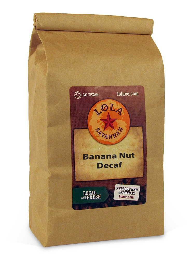 Lola Savannah Coffee - Banana Nut (Whole Bean, Decaffeinated) 2lb