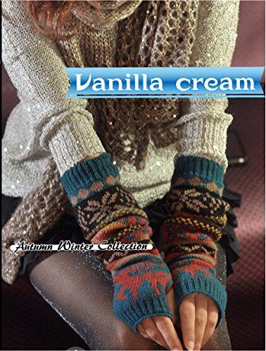 (バニラクリーム)Vanilla cream ノルディック アームウォーマー アームカバー スリーブ (ブルー)