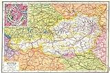 AUSTRIA: Tyrol Salzburg Styria Carinthia Vorarlberg. Inset Vienna plan 1920 map