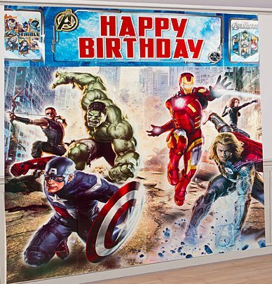 Avengers Giant Scene Setter Wall Decorating Kit (5pc)