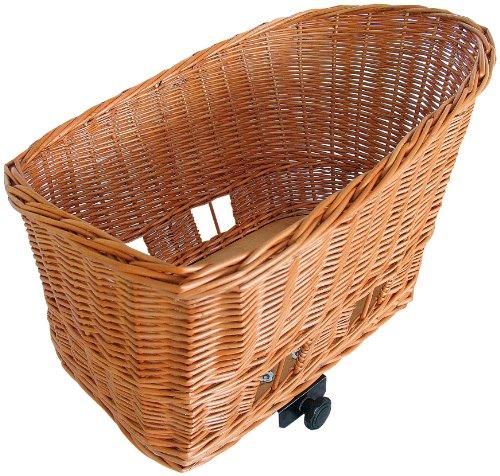 Basil Unisex Adult BAS54006 Rear Dog Basket - Nature Brown