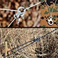 YSTD® 2pcs EDC 3 Hole Survival Buckle Multi-purpose CNC Stainless Steel Outdoor Knotting Tool New from YSTD
