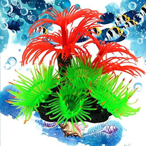 Corail plante artificiel en r sine d co pour aquarium for Poisson rouge artificiel