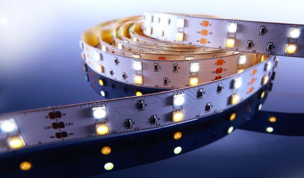 KapegoLED Flexibler LED Stripe, 5050, SMD, 12 V DC, 43,20 W, warmweiß und Kaltweiß 840064