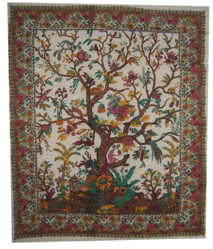 Lowest Price! Tree of Life Tapestry-Bedspread-Throw-Coverlet-Lovely
