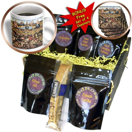 Cgb_130134_1 Bln Assorted Works Of Fine Art Collection - Garden Of Earthly Delights By Hieronymus Bosch - Coffee Gift Baskets - Coffee Gift Basket front-63975