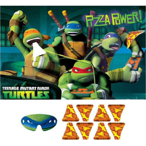 Teenage Mutant Ninja Turtles Party Game, Feed The Pizza to Mikey, Multicolored (Ninja Turtles Pizza Box compare prices)