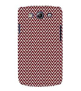 Maroon Chevron 3D Hard Polycarbonate Designer Back Case Cover for Samsung Galaxy S3 :: Samsung Galaxy S3 i9300