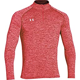 Under Armour Men\'s Twisted Tech 1/4 Zip (Large, Red)