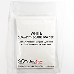 Glow in The Dark & UV Reactive Powder - Multipurpose PRO-Series (Natural White, 8 Ounces (227g)) (Color: Natural White, Tamaño: 8 Ounces (227g))