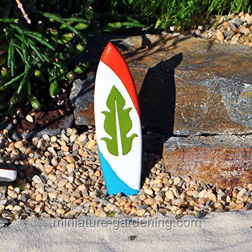 Miniature Fairy Garden Surf Board, Color Options, Green