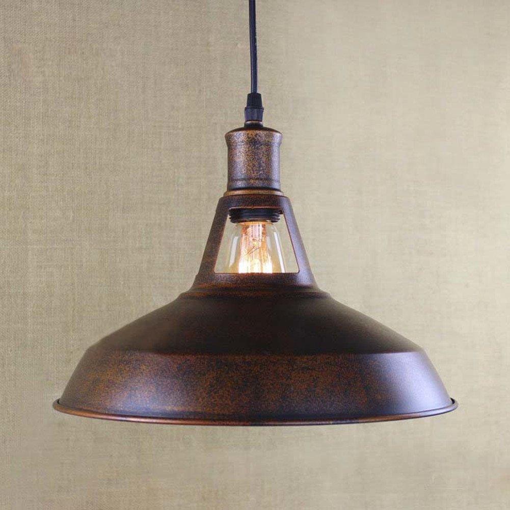 Baycheer Hl421217 Industrial Retro Vintage Style 12 Wide Small Single Light Pendant Light