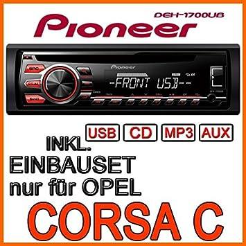 OPEL corsa c-pioneer dEH1700UB cD/mP3/uSB avec kit de montage
