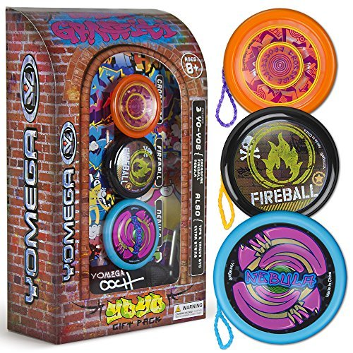 3 Pack Yomega Urban Graffiti Yo-Yo Gift Set with 150 Trick Instructional DVD by Yomega günstig bestellen