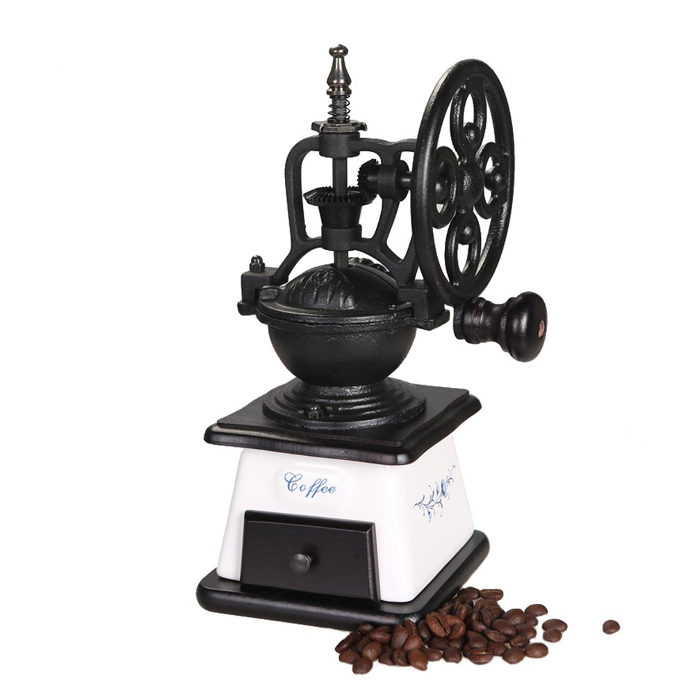 ASAPS Vintage Coffee Grinder (Black+White) 1