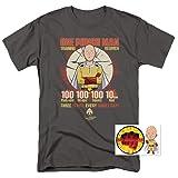One-Punch Man Japanese Superhero Parody Workout T Shirt (X-Large) (Color: Training Regimen, Charcoal, Tamaño: X-Large)