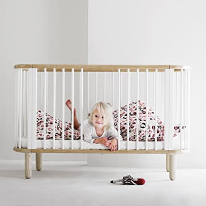 Flexa Flexa Baby–babybed 70x 140cm–Wit Mette beuk 88cm * 76cm * 146cm