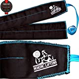 "Crossfit Wrist Wraps (1 Pair/2 Wraps) 32"" Pure Strength for Weightlifting/Workout/Gym/Powerlifting/Bodybuilding - Support For Women & Men - Premium Quality Equipment & Accessories - Use Gloves, Hooks, Wraps & Straps to Avoid Injury During Weight Lifting - 1 Year Warranty"