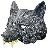 狼オオカミウルフラバーマスク祭ハロウィンクリスマスお面仮面コスプレ仮装変装パーティーイベント宴会に