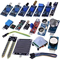 Kuman 16 In 1 Modules Sensor Kit Project Super Starter Kits For Arduino UNO R3 Mega2560 Mega328 Nano Raspberry...