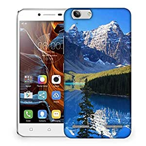Snoogg White Mountain Designer Protective Phone Back Case Cover For Lenovo K5 Vibe