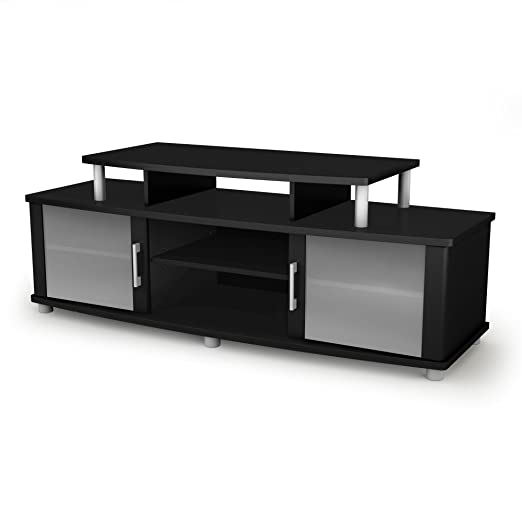 South Shore City Life Collection TV Stand, Pure Black