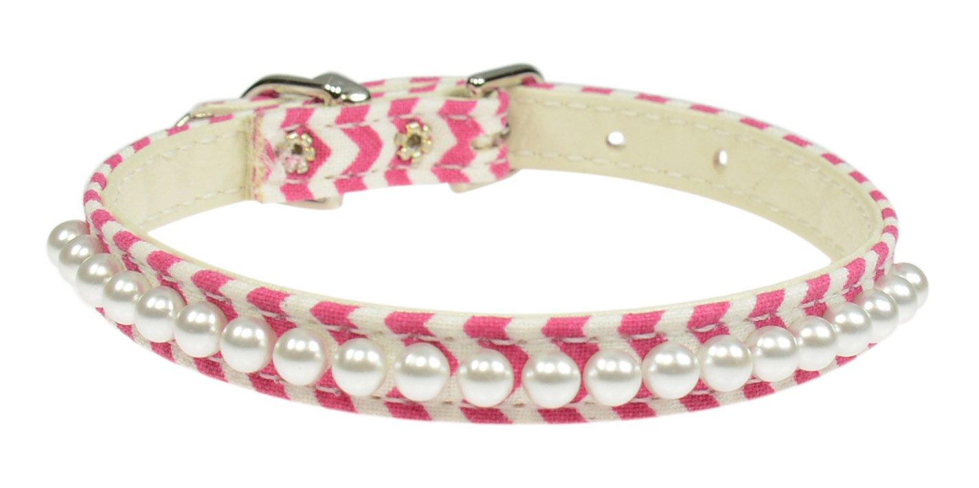 Evans Collars 3/8 Pearl Collar, Size 10, Mini Chevron, Dark Pink пижама evans evans ev006ewscq22