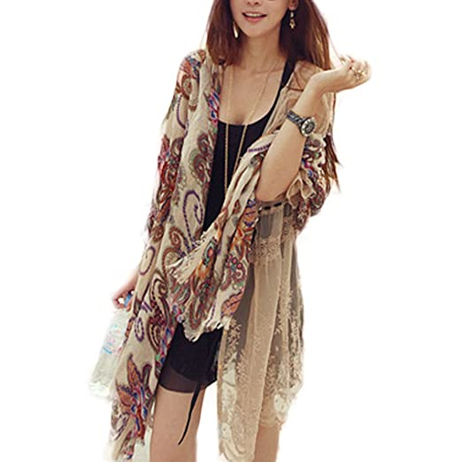 Urparcel Womens Boho Warm Knitted Scarf Stole Wraps Shawl Scraves Stole Pashmina